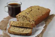 Healthy Banana Bread via Relishing it- I used whole wheat and all purpose flours.  No cocoa nibs.