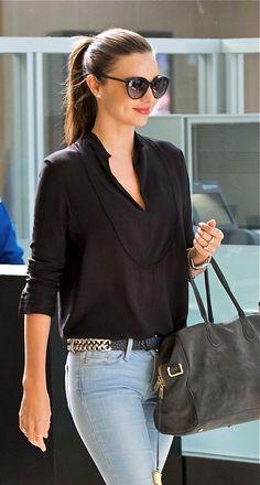 Miranda Kerr- I love the simple elegance of this look.