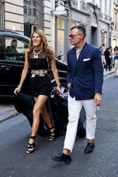George Cortina with Anna Dello Russo