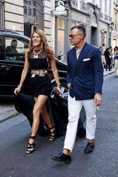 George Cortina with Anna Dello Russo