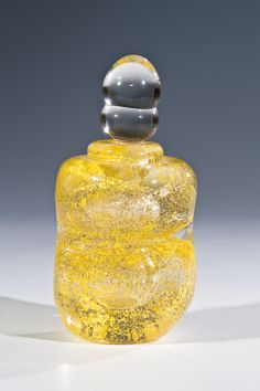** ANDRÉ THURET, internally decorated glass perfume.