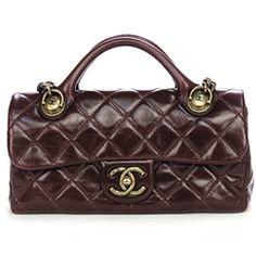 Chanel Burgundy Quilted Calfskin Castle Rock Small Flap Handbag - $2,799.99