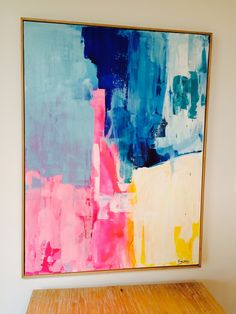 Kirsten Jackson piece More Art Painting abstract art diy acrylic. Painting idea ideas for walls kitchen cabinets Painting Inspiration, Art Inspo, Art Et Design, Contemporary Abstract Art, Diy Abstract Art, Abstract Canvas, Painting Abstract, Bright Abstract Art, Abstract Portrait