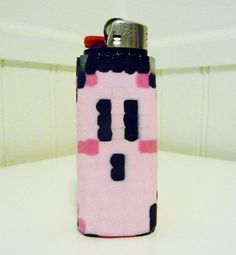 Kirby Perler Bead LIGHTER CASE by LighterCases on Etsy, $10.00 ©