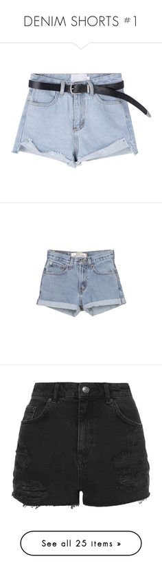 """DENIM SHORTS #1"" by herllequin ❤ liked on Polyvore featuring shorts, bottoms, pants, short, denim short shorts, zipper pocket shorts, high-waisted denim shorts, short jean shorts, high-waisted jean shorts and blue shorts"