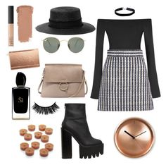 """""""Untitled #39"""" by cmontaner on Polyvore featuring Alix, Miu Miu, Jeffrey Campbell, rag & bone, Ray-Ban, Miss Selfridge, Chloé, Kate Spade, Internoitaliano and Crate and Barrel"""