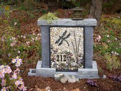 Pebble Mosaics ~ Dragonfly Address Marker