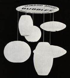 The Bubble Lamps - created by George Nelson for Howard Miller.  These iconic lamps are still used today, even though production on the originals stopped in the 1970's.