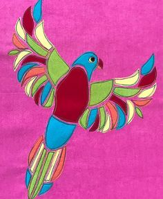 The Rainbow Lorikeet Block Applique Patterns, Rooster, Sewing Projects, Butterfly Print, Photo And Video, Pattern Blocks, Fun, Animals, Stitch