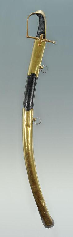 SABRE DE HUSSARDS, MODÈLE 1777, SIGNÉ SIMONET, version Révolutionnaire de 1792-1802 poinçon au « coq » et signé « SIMONET » fourbisseur à Paris,