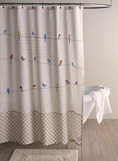 Maison D Hermine Birdies On Wire 100 Cotton Shower Curtain 72 Inch By