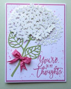 You're in my Thoughts by Broom - Cards and Paper Crafts at Splitcoaststampers