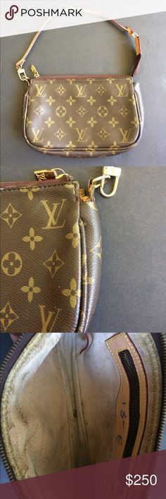 Authentic Louis Vuitton Purse Small Louis Vuitton Purse. In excellent condition. A bit of the usual girly makeup inside. All zippers work. A little wear on the side shown in pictures other than that it's excellent! Louis Vuitton Bags
