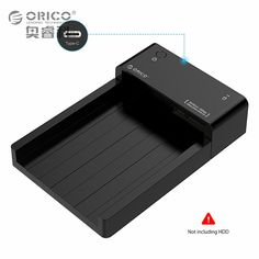 Type C HDD Enclosure USB 3.1 to SATA 2.5-inch / 3.5-inch External Hard Drive Docking Station Support UASP & 8TB Drives Tool Free