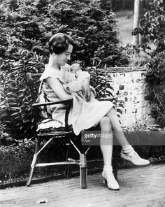 Ann Morrow Lindbergh, Charles Lindbergh's wife, here with her son Charles Jr after his birth, 1930