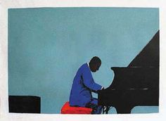 Inspired by Abdullah Ibrahim by Sam Nhlengethwa Jazz Poster, Jazz Art, All That Jazz, Festival Posters, Letterpress Printing, Klimt, African Art, In A Heartbeat, Artist At Work