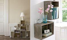 DECORANDO COM CAIXAS DE MADEIRA - Casa Bellissimo Diy Recycle, Recycling, Nightstand, Storage, Table, Blog Casa, Furniture, Home Decor, Diy Creative Ideas