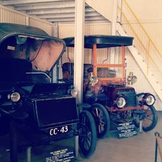 Historic town near the Big Hole in Kimberley.  Love these vintage cars!