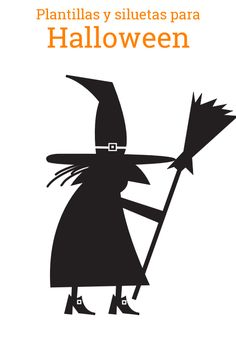Silueta bruja halloween