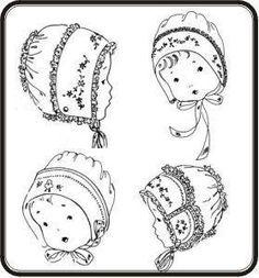 Silk and lace baby bonnet- infant photo prop, vintage