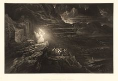 John Martin (1789‑1854), 'Plate from 'Illustrations to the Bible': Moses Breaketh the Tables' published 1833