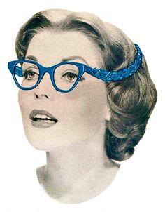 """Tura Eyewear 1950s """"Turanette"""" ad detail"""