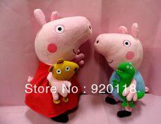 peppa and george George Pig, Dora The Explorer, Cute Toys, Plush Animals, Diy Dollhouse, Peppa Pig, Kids Toys, Dinosaur Stuffed Animal, Childhood
