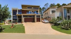 This picturesque home, beautifully situated adjacent to the 1st fairway on the Greg Norman signature golf course will take your breath away.    HomesInJohannesburg #PropertyForSale #JHB #Gauteng #ResidentialEstates