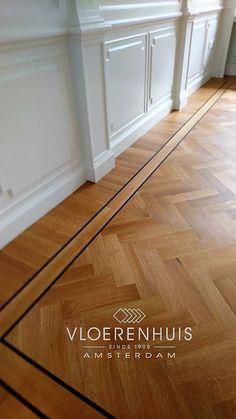 Wood Floor Design, Wood Floor Pattern, Herringbone Wood Floor, Floor Patterns, Dark Wood Floors, Timber Flooring, Parquet Flooring, Planchers En Chevrons, Floor Trim