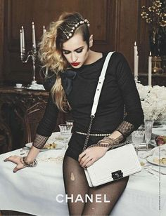 Alice Dellal - great idea with bobby pins