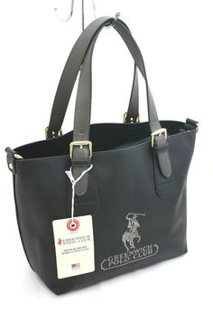 Borsa Shopping Greenwich Polo Club Art098-3T Ecopelle Effetto Saffiano - Nero