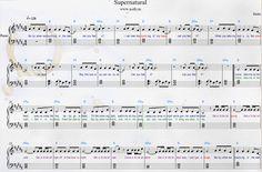 Kesha — Supernatural Piano Sheets with Lyrics and chords. From Warrior album. #ke$ha