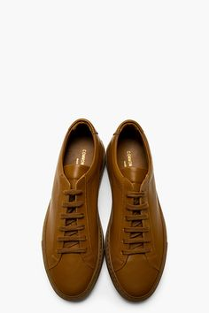 COMMON PROJECTS Brown Leather Achilles Sneakers