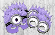 Despicable Me 2  Inspired Printable Purple Minion by Shnookers, $6.00