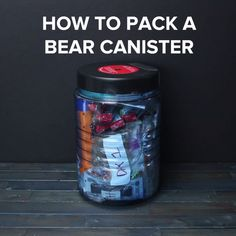 How To Pack A Bear Canister