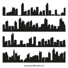 nyc new york city skyline silhouette mural by parklanecouture. Black Bedroom Furniture Sets. Home Design Ideas
