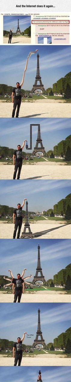 funny eiffel tower pics | funny-Eiffel-Tower-tourist-Photoshop