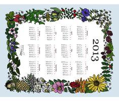 Wildflower_Tea_Towel_2013 fabric by borealchick on Spoonflower - custom fabric