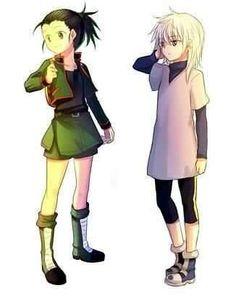 Gon and Killua (genderbender) ~Hunter X Hunter