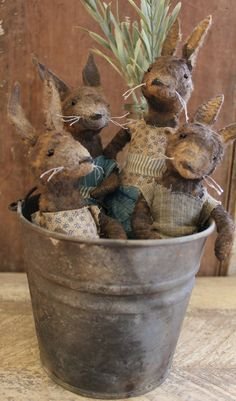 Pocket Rabbit by aFineFarmhouse on Etsy.....have no Legs 9 inches tall...cute cute cute.... these are ♥ SOLD ♥