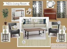 Home with Baxter: E-Design: NDJ's Living Room
