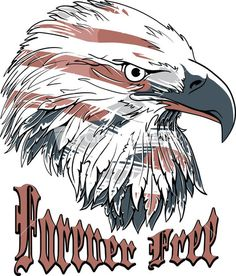 Vector T-shirt Design With Eagle