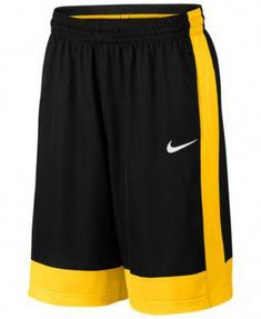 Nike Men's Dri-fit Fastbreak Basketball Shorts - Black/yellow S Basketball Shorts Girls, Basketball Games For Kids, Basketball Workouts, Adidas Basketball Shoes, Basketball Tips, Illini Basketball, Basketball Crafts, Basketball Floor, Custom Basketball