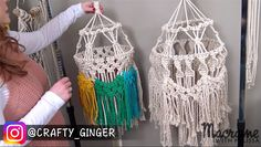 Macrame Projects and Tutorials with the Crafty Ginger