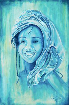 Chica de cristal | Crystal girl | Acrílico sobre lienzo | Acrylic on canvas by Pili Tejedo 80 x 120 cm