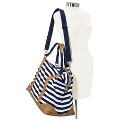 Merona® Stripe Weekender Duffle Handbag with... : Target Mobile