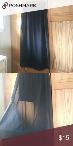 HALLOWEEN SALE! Sheer maxi skirt Sheer maxi skirt with mini skirt inside. Gently used. A. Byer Skirts Maxi