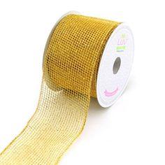 Glitter Netting Ribbon, 2-1/2-inch, 10-yard, Gold