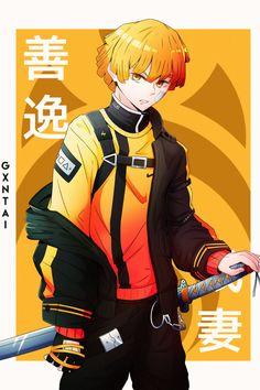 Zenitsu by gxntai Anime Wallpaper Phone, Cool Anime Wallpapers, Naruto Wallpaper, Animes Wallpapers, Anime Character Drawing, Character Art, Character Design, Demon Slayer, Slayer Anime