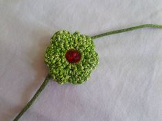 Green #Rakhi by Crazy Crochet